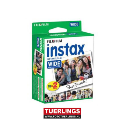 Fujifilm instax wide colorfilm 10x 2 pak (20 foto's)
