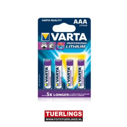 Tuerlings Gold Line LR03 4x AAA Pro. Lithium batterijen
