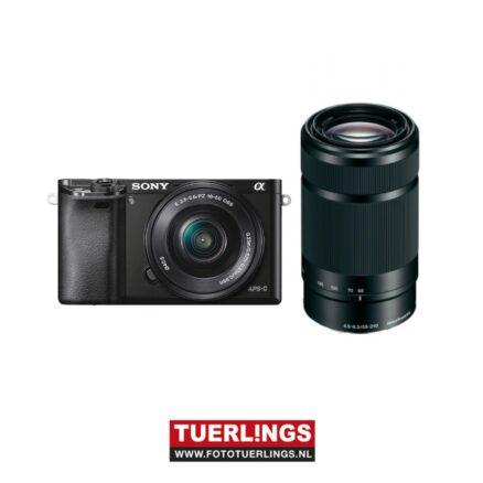 Sony A6000YB / ILCE-6000YB / ILCE6000YB / A6000 + 16-50mm & 55-210mm lens zwart