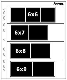 Hama Negatiefbladen 120 (6×6) pergamijn 25 st.