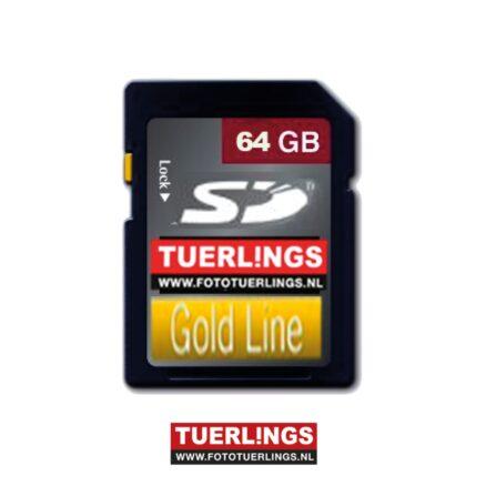 Tuerlings Gold Line 64GB SDXC Class10 geheugenkaart