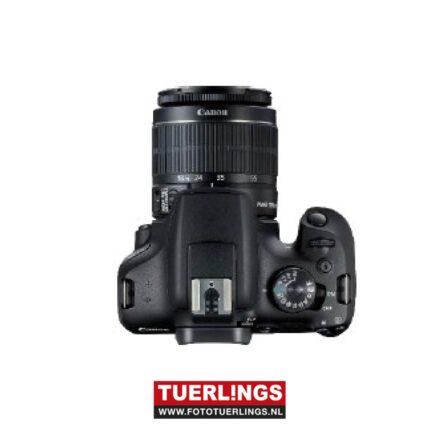 Canon EOS 2000D + EF-S 18-55mm IS II lens zwart
