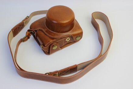 Tuerlings Lederen paraattas Nikon J5 lichtbruin