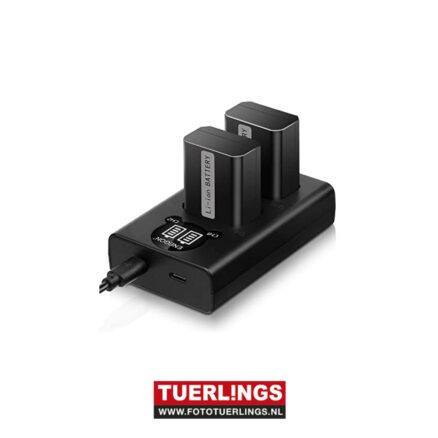 Tuerlings Gold Line dubbel USB lader voor Sony NP-FW50 accu's (o.a. A5000A6000A7)