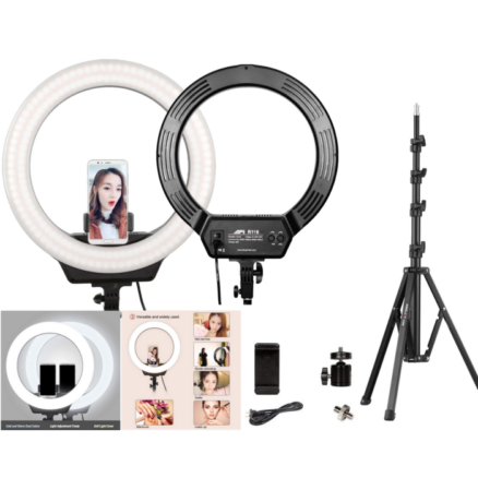 Kingjoy/AFI R116 LED Ringlight vlogger Set