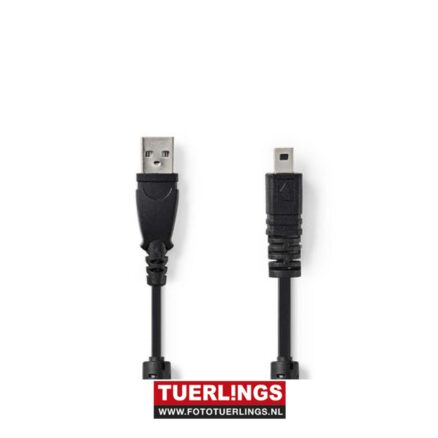 Datakabel voor Camera's   USB-A Male – UC-E6 8-Pins Male   2,0 m   Zwart