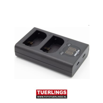 Tuerlings Gold Line dubbel USB lader voor Canon LP-E6(N) accu's
