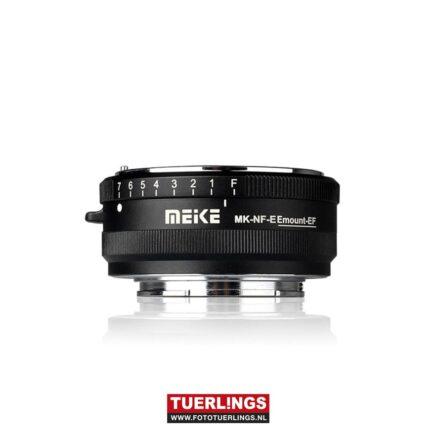 Meike lens adapter Nikon-F lens naar Sony-E mount Occasion