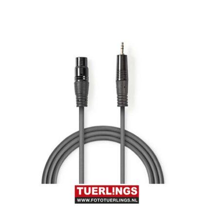 XLR naar 3,5mm audio kabel 1,5 meter