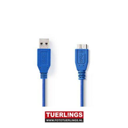 USB 3.0 kabel 2 meter blauw