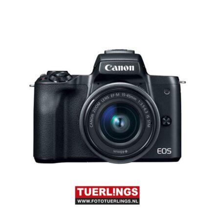 Canon EOS M50 II zwart + EF-M 15-45 mm IS STM