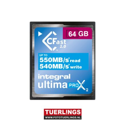 Integral 64GB CFast 2.0 Ultima Pro X 3666x 550mbs read540mbs write