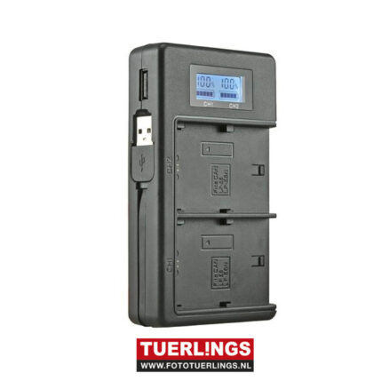 Tuerlings Gold Line dubbel USB lader voor Sony NP-FV accu's